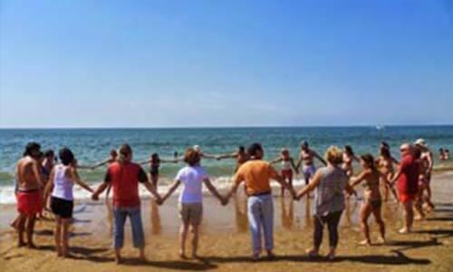 ocio inteligente en la playa en vacaciones