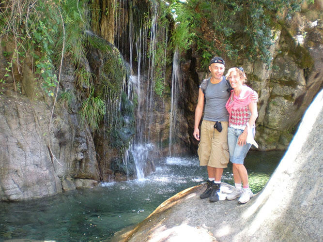 foto vacaciones alternativa naturaleza en pareja