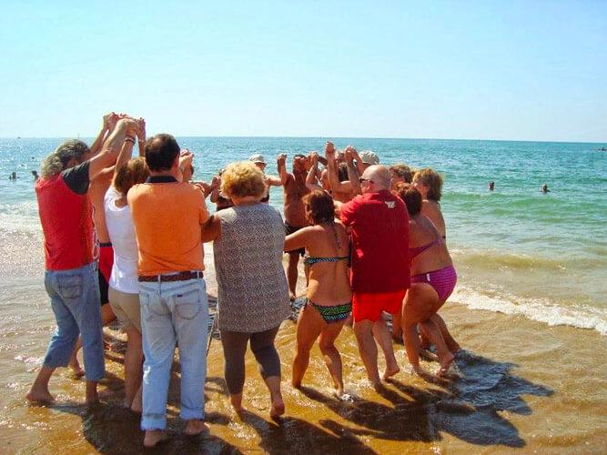vacaciones alternativas foto en la playa union