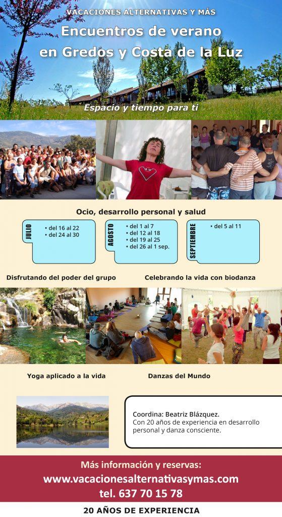 Calendario vacaciones en Gredos 2019